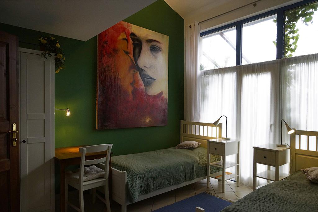 """2-Bett-Zimmer """"Gartenzimmer"""" im Erdgeschoss (Zimmer 5)"""